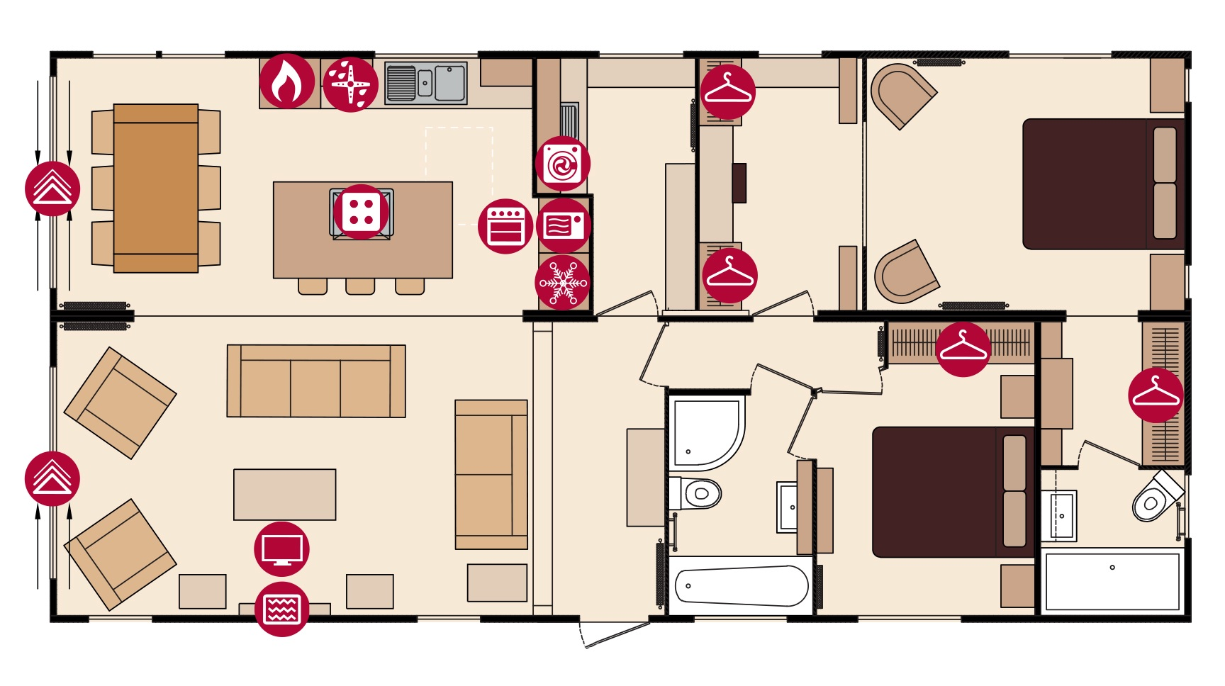 Holiday Home Builders Floor Plans: Wyldecrest Holiday Parks