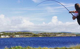Fly Casting at Port Haverigg Image