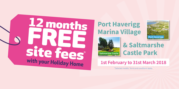 Wyldecrest Holiday Parks 12 Months Free Site Fees Offer Banner Small