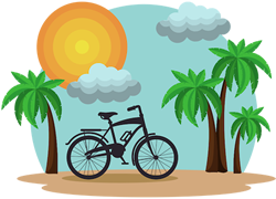 Palm Tree Scene Vector