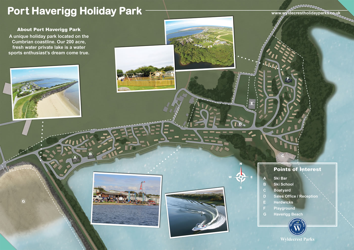 Port Haverigg Holiday Park Map